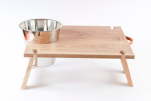 Load image into Gallery viewer, RAW Picnic Table - Solid Oak with ice bucket cut-out