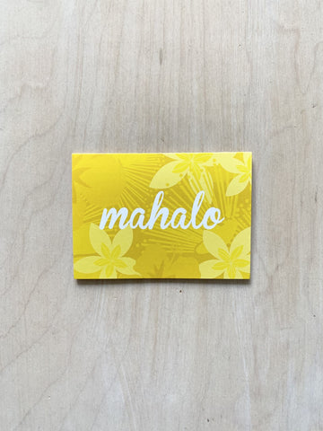 Mahalo Note Cards (set of 4)