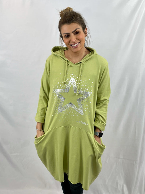Hooded Star Pocket Dress