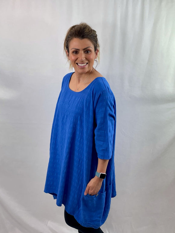 Cheesecloth A-Line Pocket Tunic