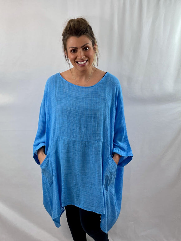 Cheesecloth Oversized Cape Top