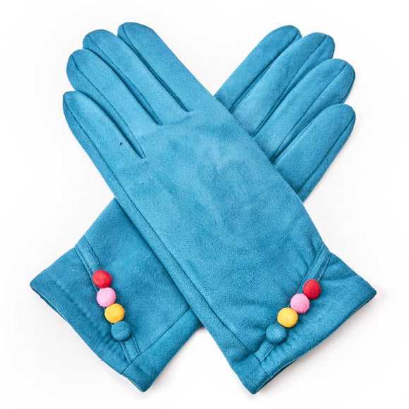 Colour Button Gloves