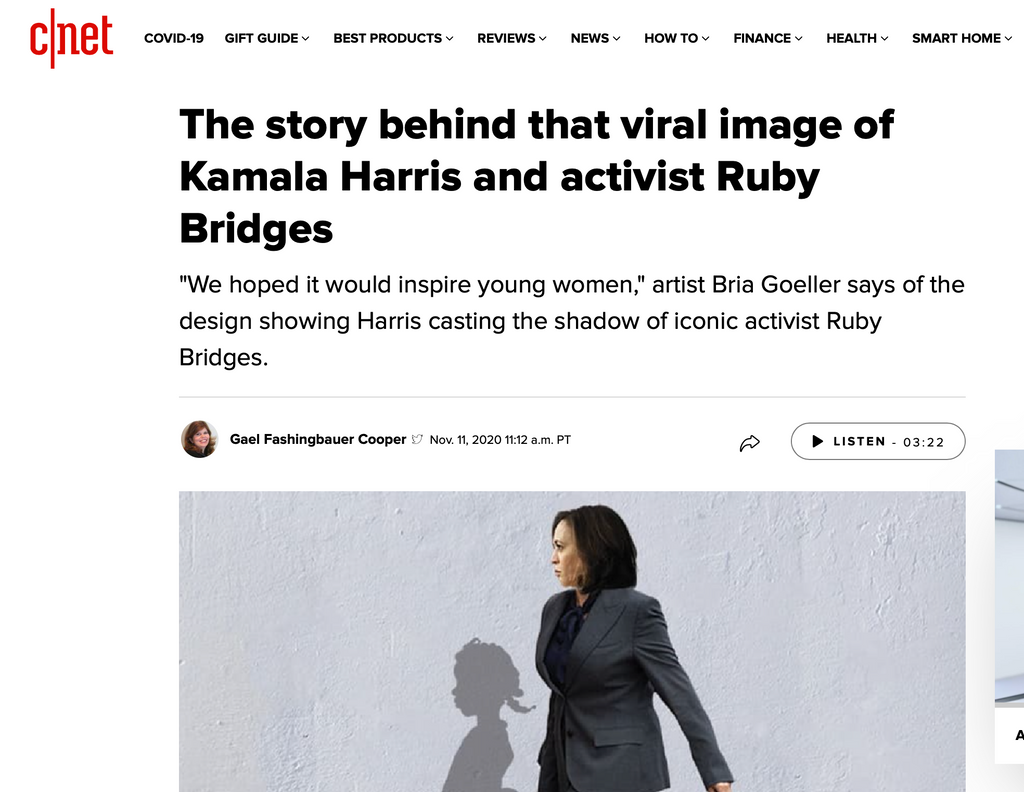 The story behind that viral image of Kamala Harris and activist Ruby Bridges
