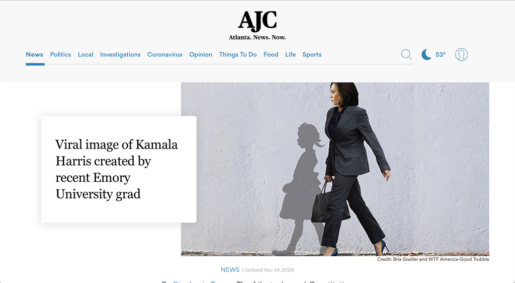 Viral image of Kamala Harris created by recent Emory University grad