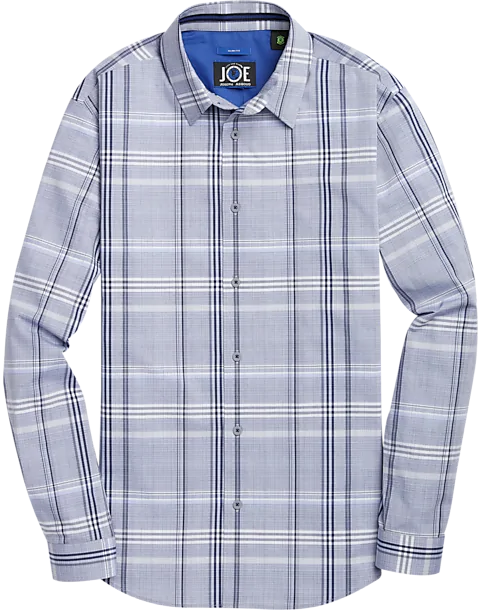 Joe Joseph Abbout Repreve Blue Plaid Button Up Shirt