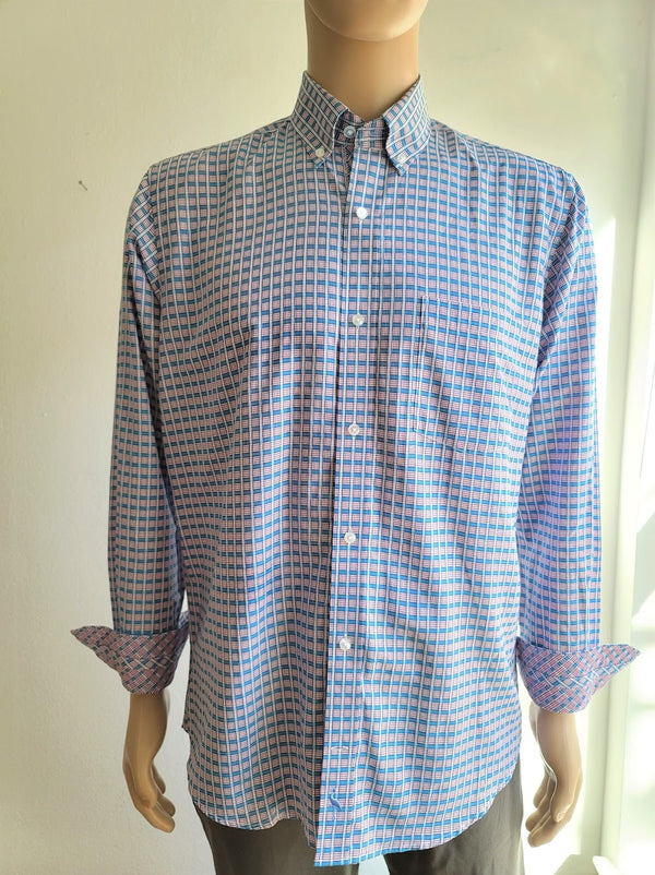 TailorByrd Purple Plaid Button Down Shirt