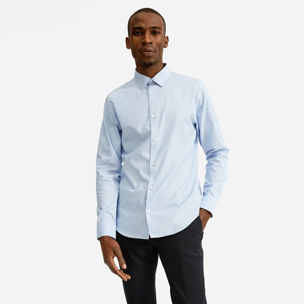 Everlane Pale Blue Slim Fit Performance Button Up Shirt