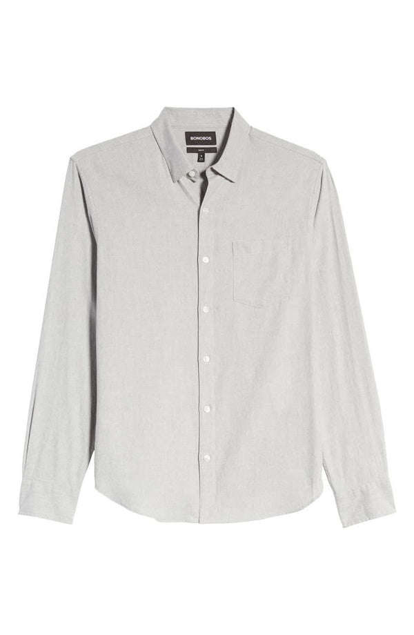 Bonobos Heather Grey Button Down Shirt