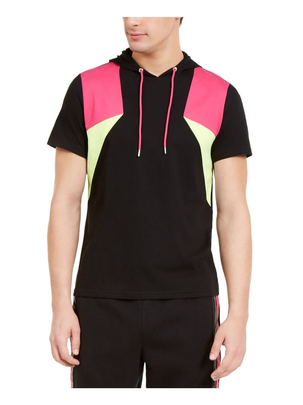 INC Black Colorblock Shortsleeve Sweatshirt