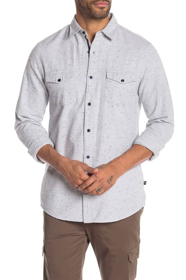 Civil Society Flecked Light Grey Button up Shirt