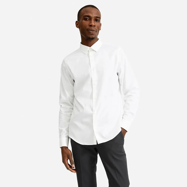 Everlane White Slim Fit Performance Button Up Shirt