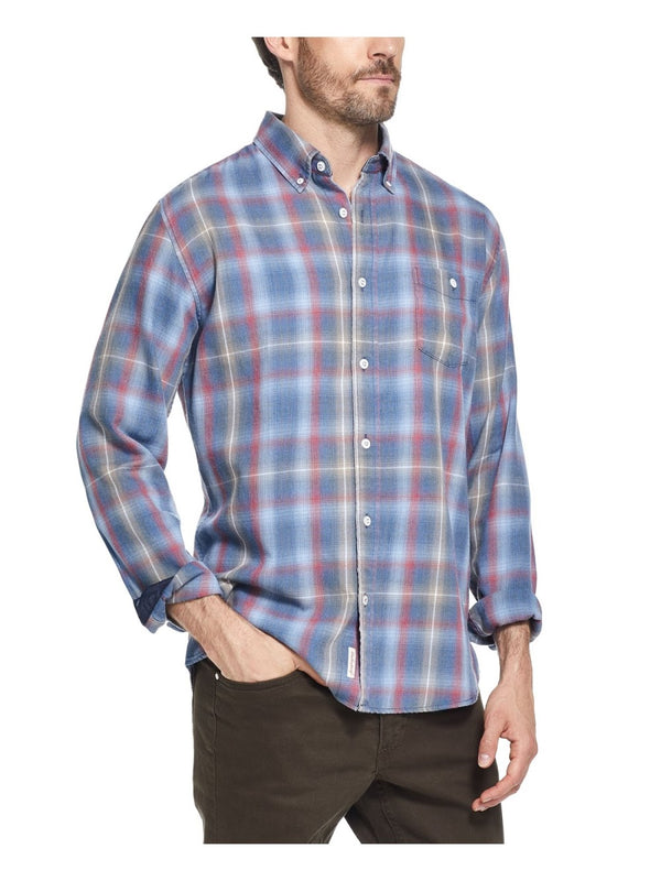 Weatherproof Vintage Blue Plaid Shirt