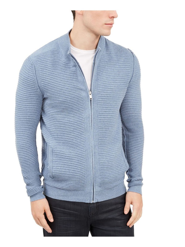 Alfani Light Blue Zip Up Sweater