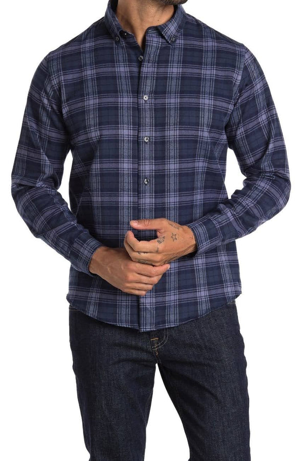 Slate & Stone Blue Plaid Button Down Shirt
