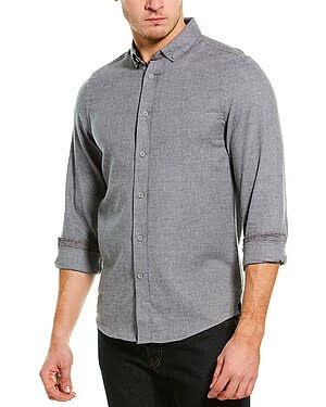 Heritage by Report Collection Grey Button Up Shirt