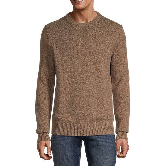 St. John's Bay Quarter Zip Brown Marl Sweater