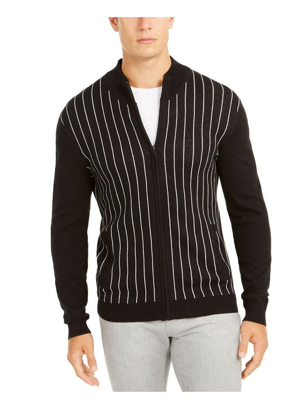 Alfani Black Pinstripe Sweater