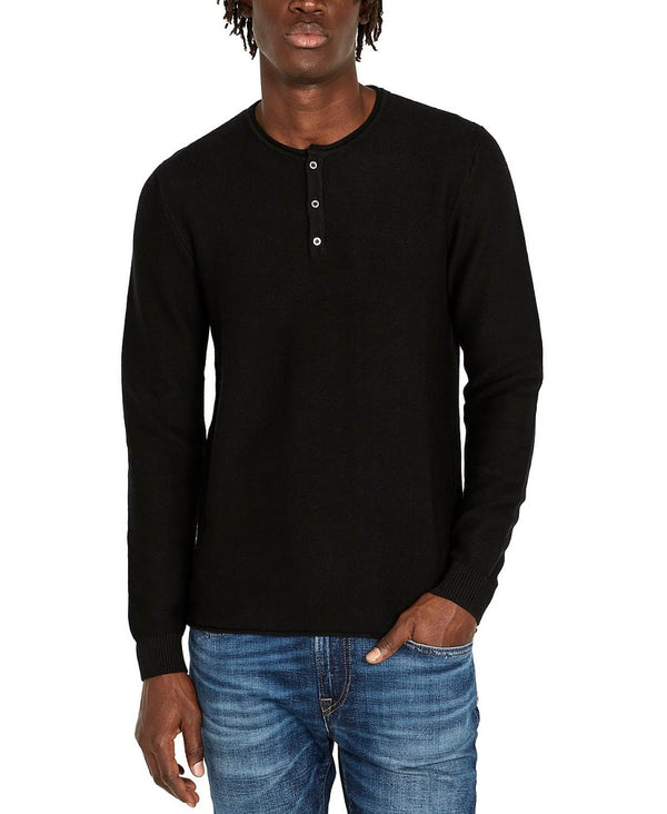 Buffalo David Bitton Black Henley
