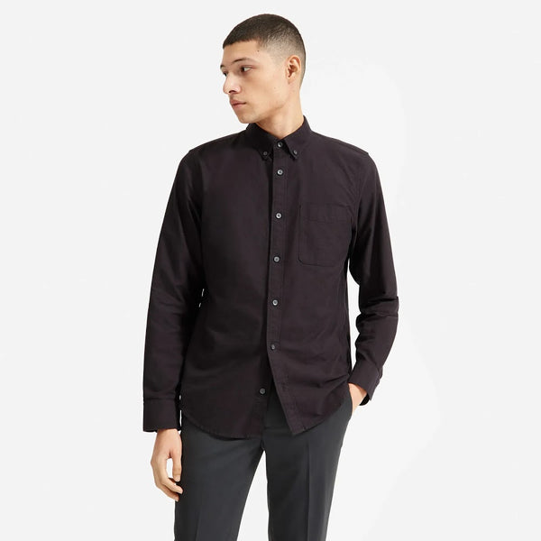 Everlane Black Oxford Button Down Shirt