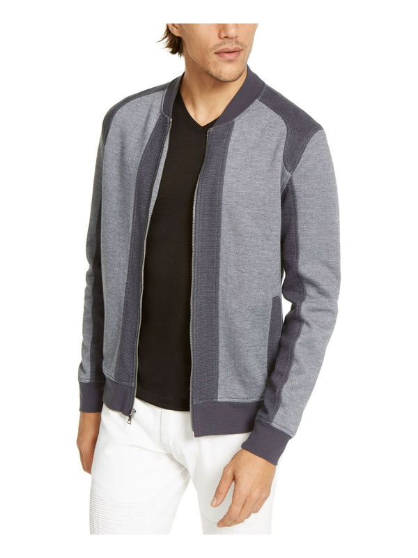 INC Heather Grey Colorblock ZIp-Up Sweatshirt