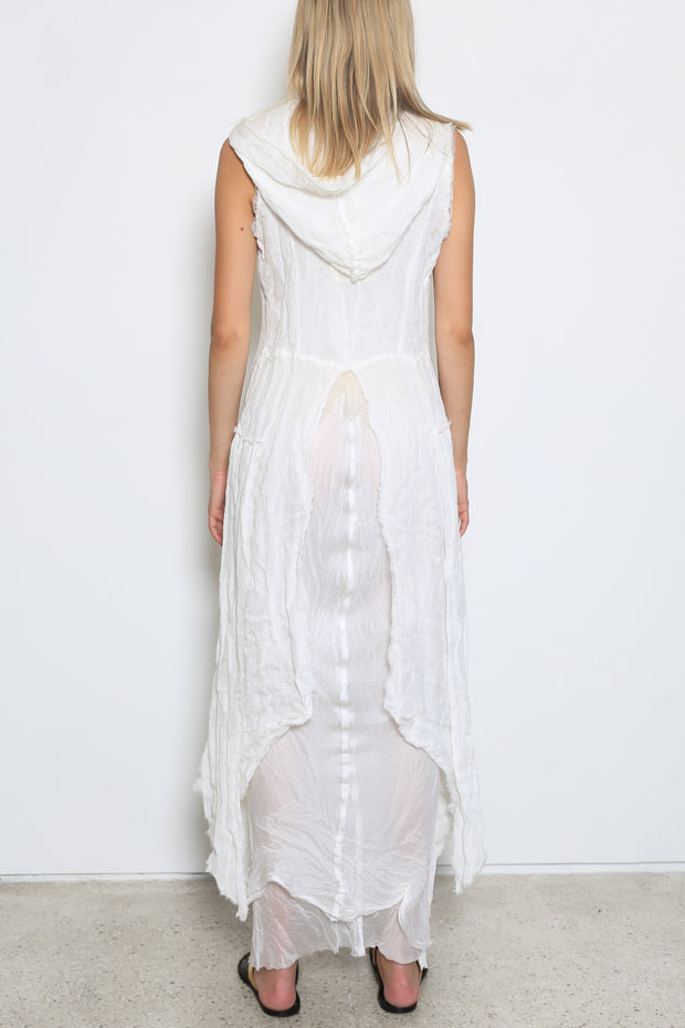 Maxi Linen Embroidered Gilet