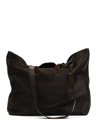 Contrast Metallic Leather Shoulder Bag