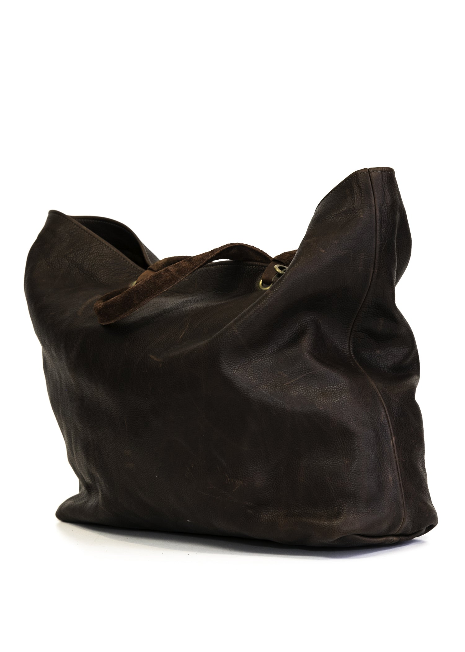 Large Brown Leather Tote