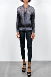Zippered Tulle Bomber with Studs & Stars & Shadows