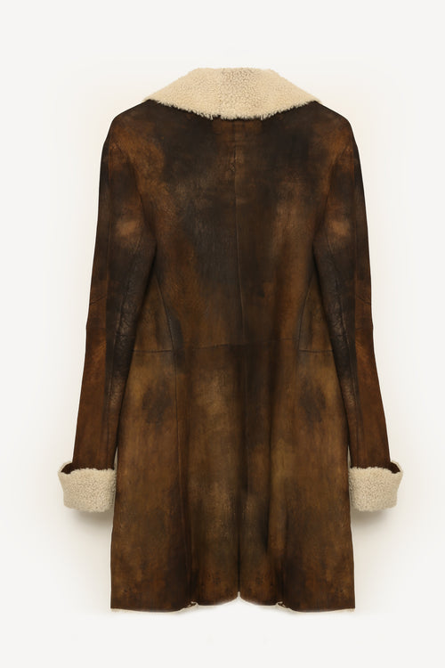 Bronze Metallic Shearling Jacket