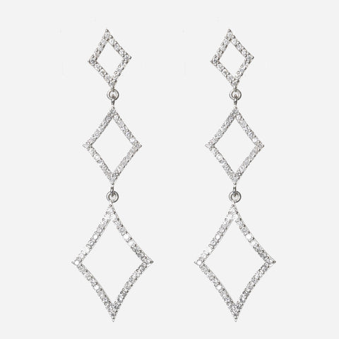 Vintage Diamond Chandelier Earrings