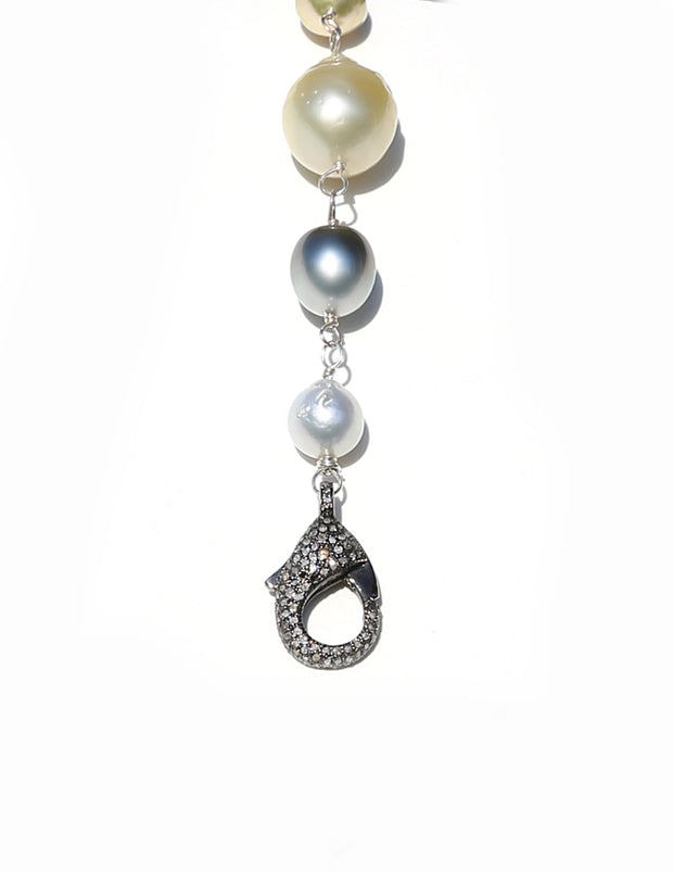 South Sea Pearl Necklace with Diamond Clasp