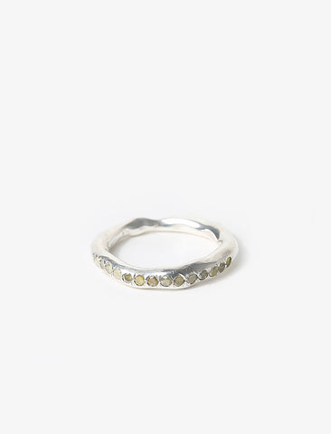 Mara Silver Ring with Icy B Diamonds