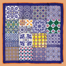Load image into Gallery viewer, Chinatown Tiles Scarf - Midnight Blue