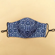 Load image into Gallery viewer, Signature Peranakan Dual Fabric Mask - Black