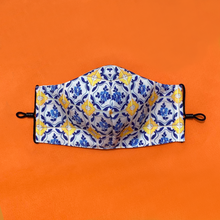 Load image into Gallery viewer, Signature Peranakan Dual Fabric Mask - Lemon