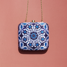 Load image into Gallery viewer, Chinatown Box Clutch - Royal Blue
