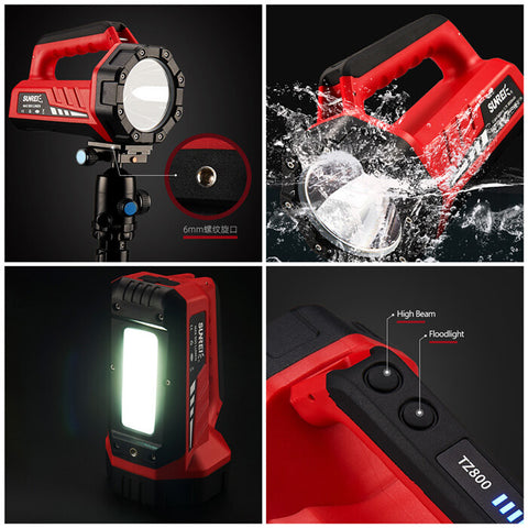 Sunrei TZ800 Long Distance LED + COB Flashlight