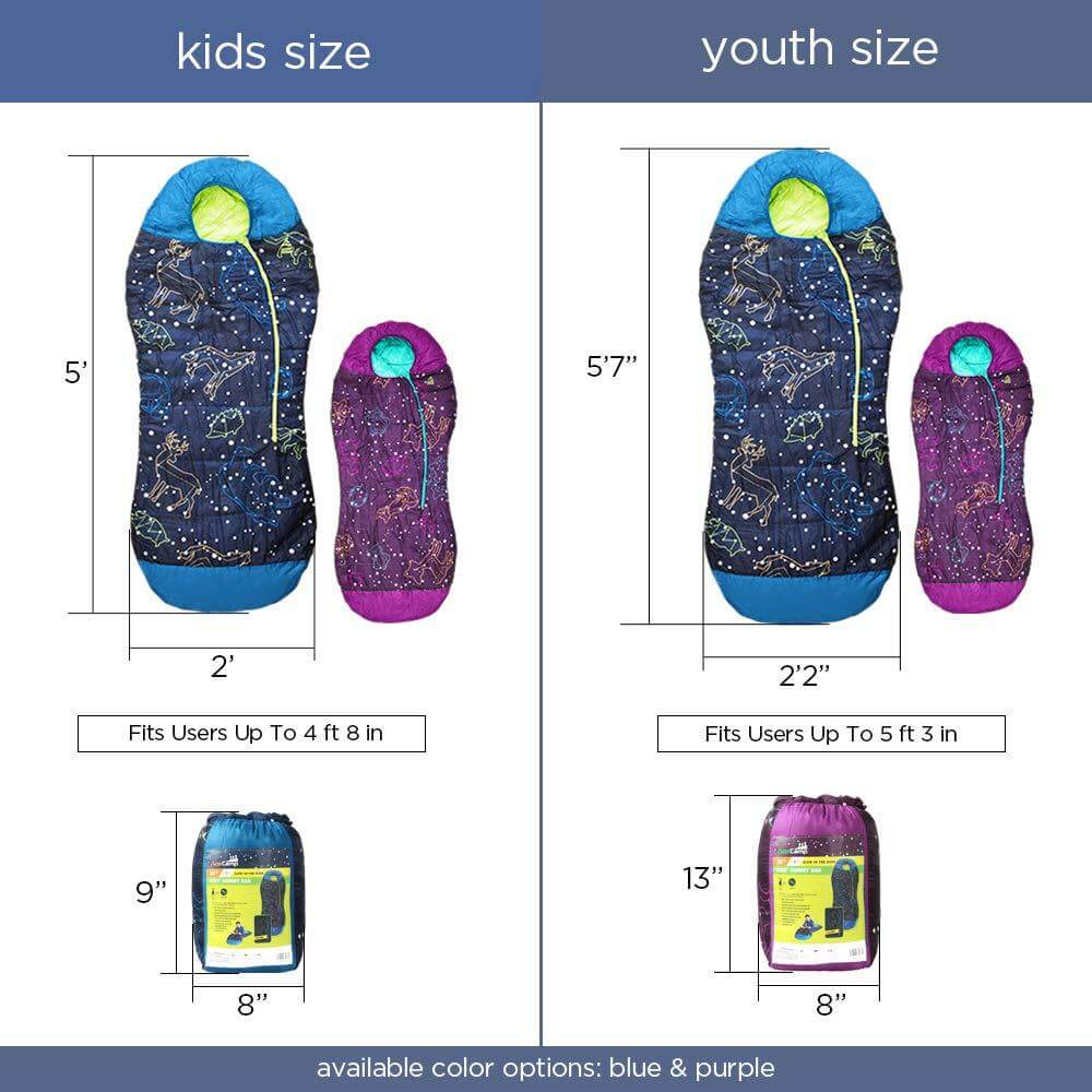 Acecamp Kids Sleeping Bags- Extreme Temp Rating 30F/ -1C