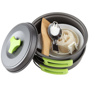 Camping Cookware Mess Kit -Pots and Pans Set DS200
