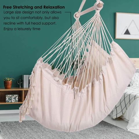 Image of Hammock Chair Max 330 Lbs with 2 Cushions