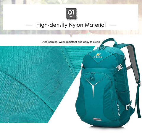 30L Multipurpose Hiking Backpack Lightweight Nylon Waterproof