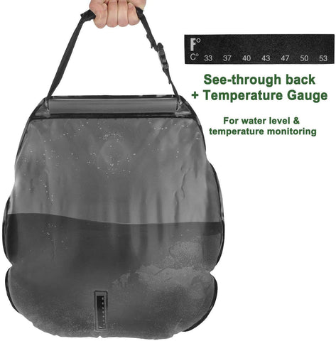 Solar Shower Bag 5 gallons/20L with Removable Hose and On-Off Switchable Shower Head
