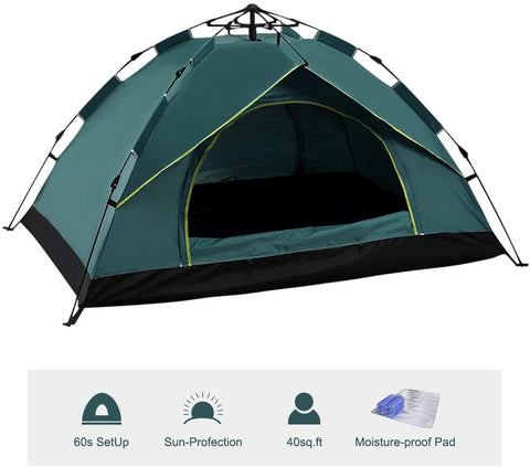 Image of 3-4 Person Pop Up Large Instant Family Tent