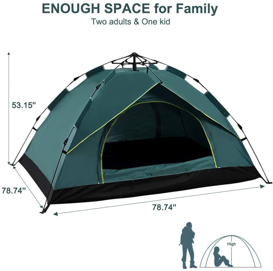 3-4 Person Pop Up Large Instant Family Tent