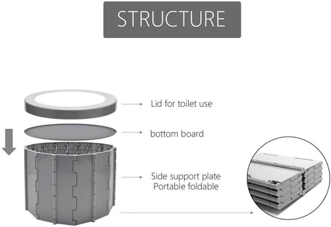 Portable Toilet Seat (Gray)