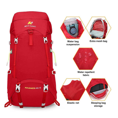 50L Waterproof Camping Backpacking Daypack
