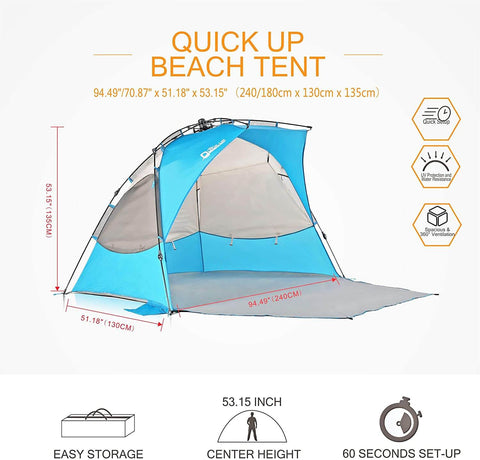Pop Up Beach Tent Sun Shelter