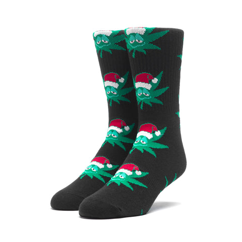 Huf Green Buddy Santa Socks Black