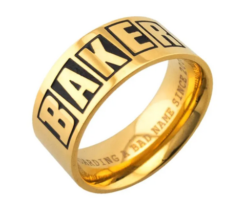 Baker Brand Logo Ring Gold