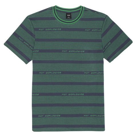 Huf Enzo Striped Knit Tee Top Dynamic Cobalt